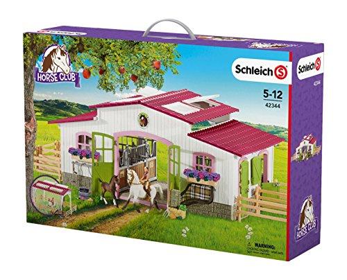schleich-42344-reiterhof-mit-reiterin-und-pferden-mehrfarbig