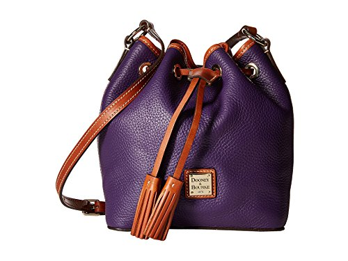 Dooney & Bourke Kendall Drawstring Crossbody Leather Bag Purple