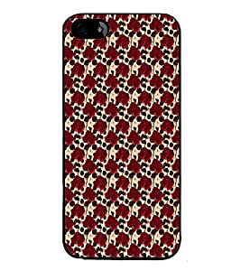 iFasho Animated Pattern rose flower with leaves Back Case Cover for Apple iPhone 5