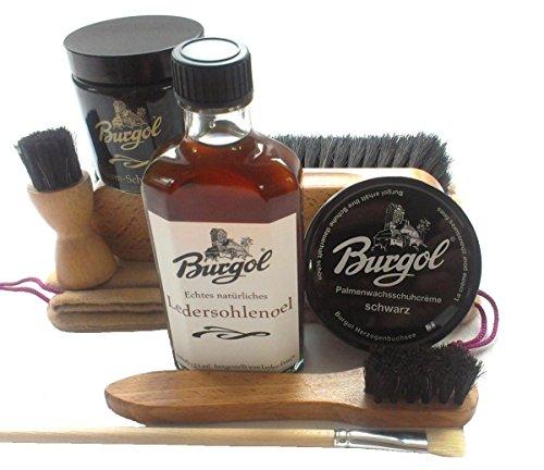 Burgol Schuhpflegeset für schwarze rahmengenähte Herrenschuhe