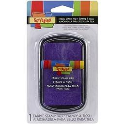 Scribbles Fabric Stamp Pad-Purple