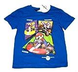 Wii Nintendo Mario Kart Boy's T-Shirt - blue