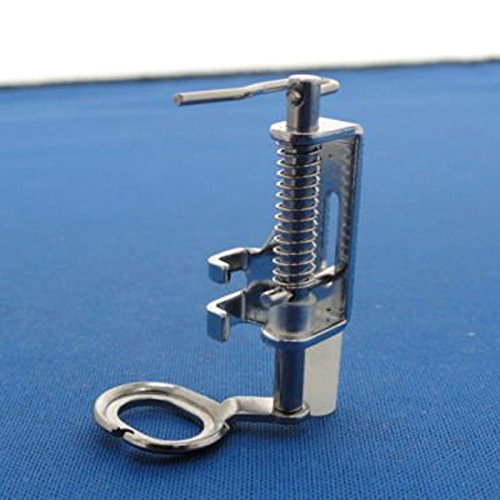 Foxnovo Portable Free Motion Metal Quilting Presser Foot Feet For Domestic Sewing Machines (Silver)