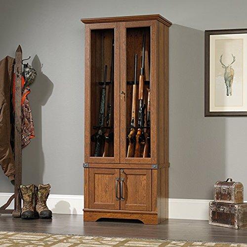 sauder-carson-forge-gun-display-cabinet-in-washington-cherry