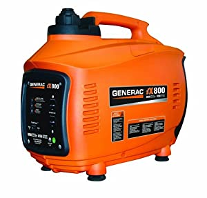 Generac 5791 iX800 800 Watt 38cc 4-Stroke OHV Gas Powered Portable Inverter Generator