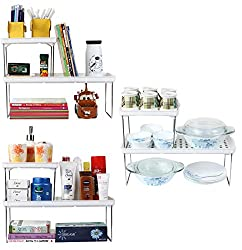 UberLyfe Foldable Multipurpose Shelf Combo - 3 Big Shelves & 3 Small Shelves (KT-COM-41_42-6PC)