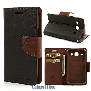 USS Mercury Goospery Flip Cover For Vivo - Y 27 - Black Brown