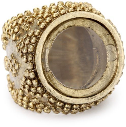 Low Luv by Erin Wasson Gold-Tone Magnifier Ring, Size 7