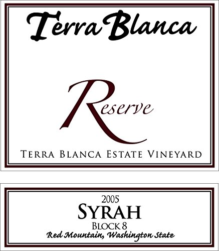 2005 Terra Blanca Reserve Red Mountain Syrah Block 8 750 Ml