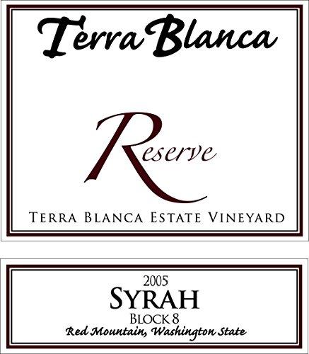 2005 Terra Blanca Reserve Red Mountain Syrah Block 8 750 Ml