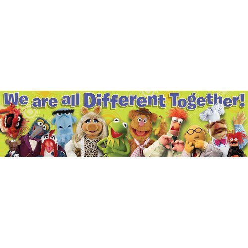 Eureka Muppets Different Together Classroom Banner
