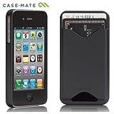 Case-Mate iPhone 4S / 4 カードホルダー付ハードケース ID Case マット・ブラック CM015573