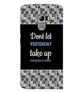 PrintDhaba Quote D-4139 Back Case Cover for LENOVO VIBE K4 NOTE (Multi-Coloured)