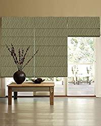 PRESTO BAZAAR 1 Piece Polyester & Cotton Geometrical Blind - Green