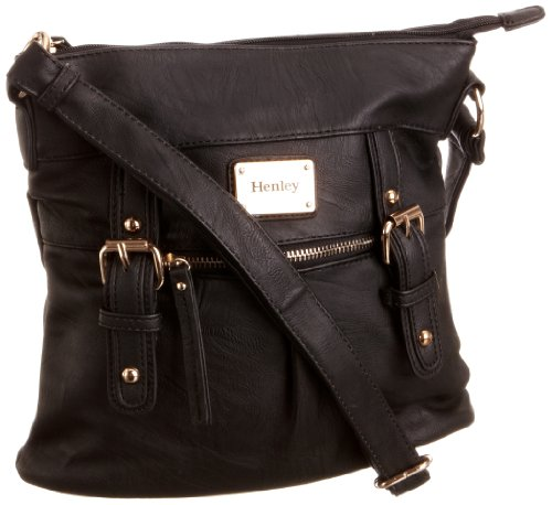 Henley Womens Amy Cross-Body Bag Black