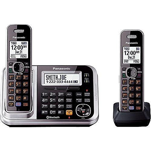 Panasonic Dect 6.0 Expandable Bluetooth Cordless Phones System With Caller Id And Digital Answering System - 2 Handset Pack