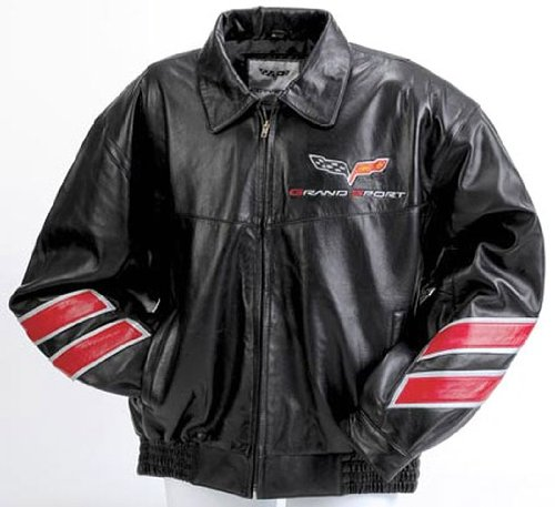 Corvette C6 Grand Sport Leather Inlaid Bomber X Large