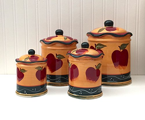 Country Apple Canister Set