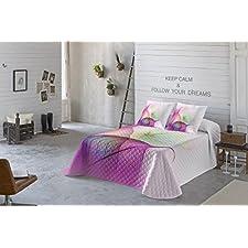 COTTON ART. Colcha Bouti Modelo ABRIL para cama de 135 (240 x 260 cm). Algodón 100%.Disponible para cama de 135 y 150.
