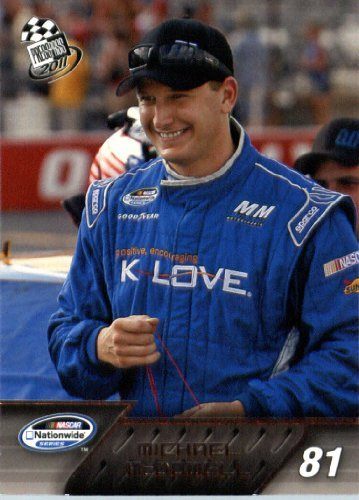 2011-Nascar-Press Pass Racing Card # 46 Michael Mcdowell Nns Drivers In Protective Screwdown Display Case !! front-421669