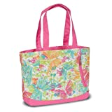 High Sierra Shelby Tote, Butterflies/Pink Lemonade, 16x14x5-Inch