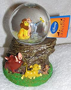 Disney Lion King Musical Snow Globe Waterball - Simba Pumba and Timon on Base by Kcare
