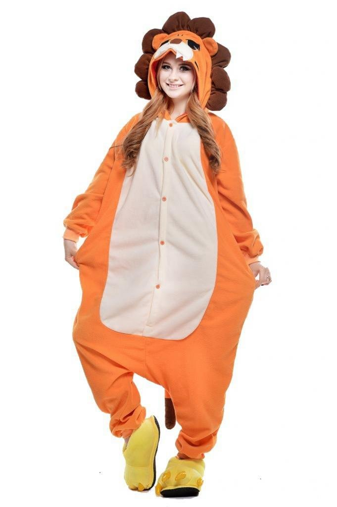 Lion Halloween Costumes Animal Onesie Adults