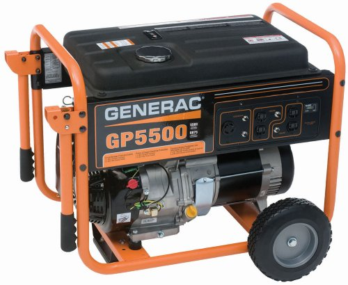 Generac 5975 GP5500 5,500 Watt 389cc OHV Portable Gas Powered Generator (CSA Approved)