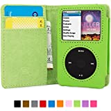 英国Snugg社 iPod Classic 用 手帳型 PUレザーケース - 生涯補償付き (グリーン)