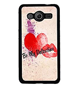 PRINTVISA The Embarasing Girl Premium Metallic Insert Back Case Cover for Samsung Galaxy Core 2 - G355H - D6066
