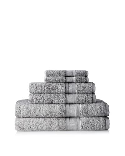 Home Source MicroCotton Aertex 6-Piece Towel Set, Steal
