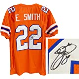 Emmitt Smith Signed Autographed Custom Throwback Orange Jersey by