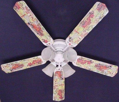 Ceiling Fan Designers 52FAN-KIDS-KRFT Fire Trucks Ceiling Fan 52 in.