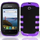 Huawei Ascend Y Case for H866 / M866 / H866C Hybrid Fusion Design Purple with Black Cover + Gift Box