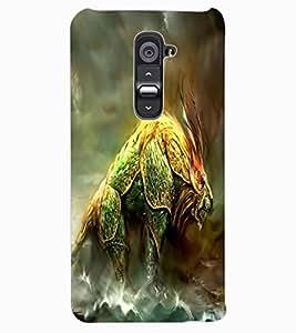ColourCraft Fantasy Animal Design Back Case Cover for LG G2
