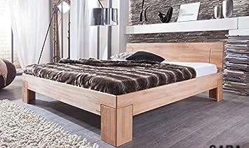 SAM® Sienna Holzbett 180 x 200 cm aus Kernbuche, massives Bett in naturlichem Design, hohes geschlossenes Kopfteil, klassisches Buche-Bett fur Ihr Schlafzimmer