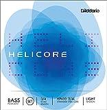 D\'Addario Bowed Jeu de cordes pour contrebasse pizzicato D\'Addario Helicore, manche 3/4, tension Light