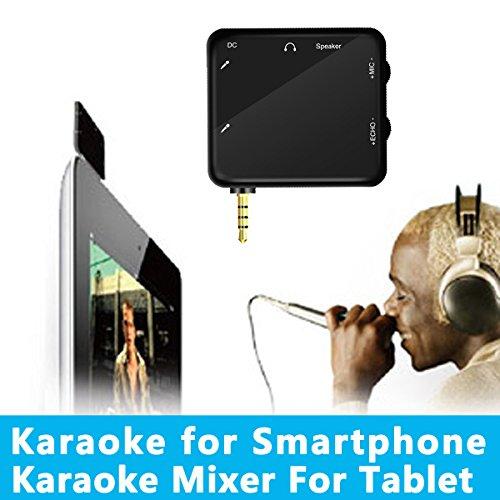 Hd-Hynudal® K5 Portable Mini 3.5Mm Earphone Karaoke Mixer Singing Machine Converter Black + 2Pcs Wired Dynamic Microphones