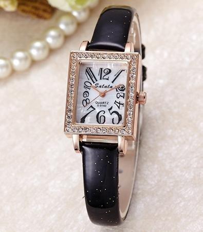 gaohl moda donna orologio al quarzo Resistente all' acqua Studded Strap Orologio da donna, Black