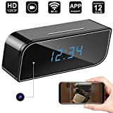 WiFi Spy Hidden Camera Clock,DigiHero WiFi Camera Alarm Clock,Nanny Cam,Motion Alert Notification on IOS/Android Phone/Tablets (Support 128G SD Card) A