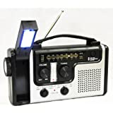 topAlert Emergency Solar Hand Crank Dynamo AM/FM/NOAA Weather Radio, Flashlight, Reading LED Light, Cell Phone Charger w/ USB adaptor