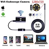 Wireless Endoscope, Sinstar Wifi Borescope with 8mm Lens 6 LED Waterproof Endoscope Inspection Camera Endoscopic Tube and Software for Iphone IOS/Android/Smartphone/PC (3.5M) (Tamaño: 3.5M)
