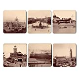 The Gallery Shop Vintage Mumbai Coasters