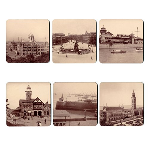 The Gallery Shop Vintage Mumbai Coasters
