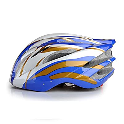 Mens Womens Road Urban Bike bicycle Helmets Adjustable for Adults Boys girls in blue/golden Size 52-59cm from Powerbank2013