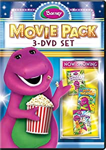 Barney Movie Pack: 3-DVD Set (Jungle Friends / Animal ABCs / Let's Go On Vacation)