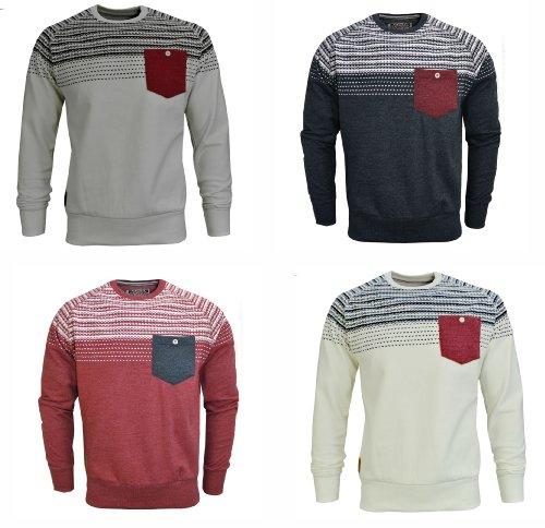 Mens Tokyo Tigers Torsby Aztec Sweatshirt (Medium, Navy Melange)