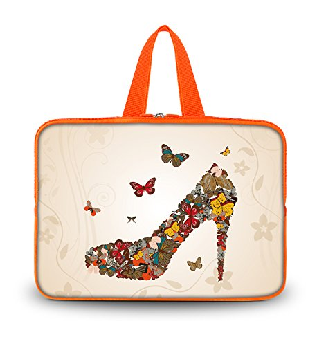 NEW Newcomer Butterful Shoes 14.1 Laptop Simple Color Sleeve Soft Case Bag+ + Shell handle For HP Chromebook 14 14 Inch Notebook?14 Sony VAIO/CW/CS PC?Lenovo ThinkPad T430,Sony Vaio E Series 14, 14 HP Enviousness M4,HP Pavilion dm4,14 Inch Toshiba Lie
