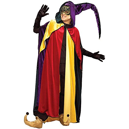 Regal Jester Hooded Adult Cape - Standard