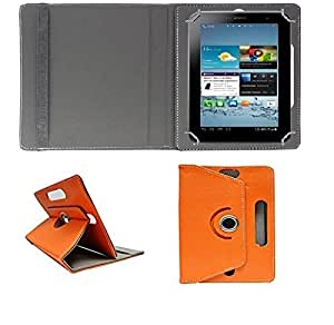 ECellStreet 360° Degree Rotating Flip Case Cover Diary Folio Case With Stand For Samsung Galaxy Tab S2 - Orange